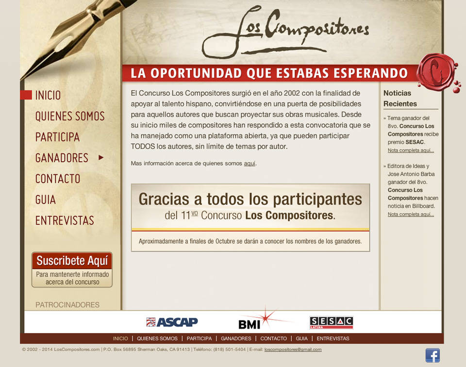 Concurso Los Compositores | Home page