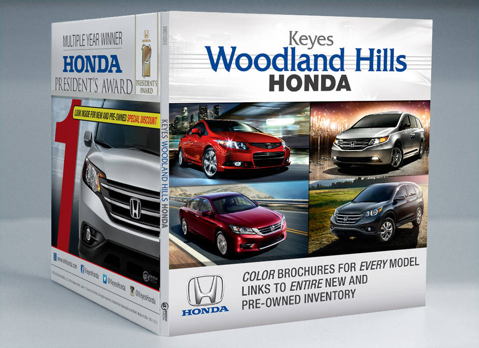 Keyes Woodland Hills Honda | Media disc packaging front cover