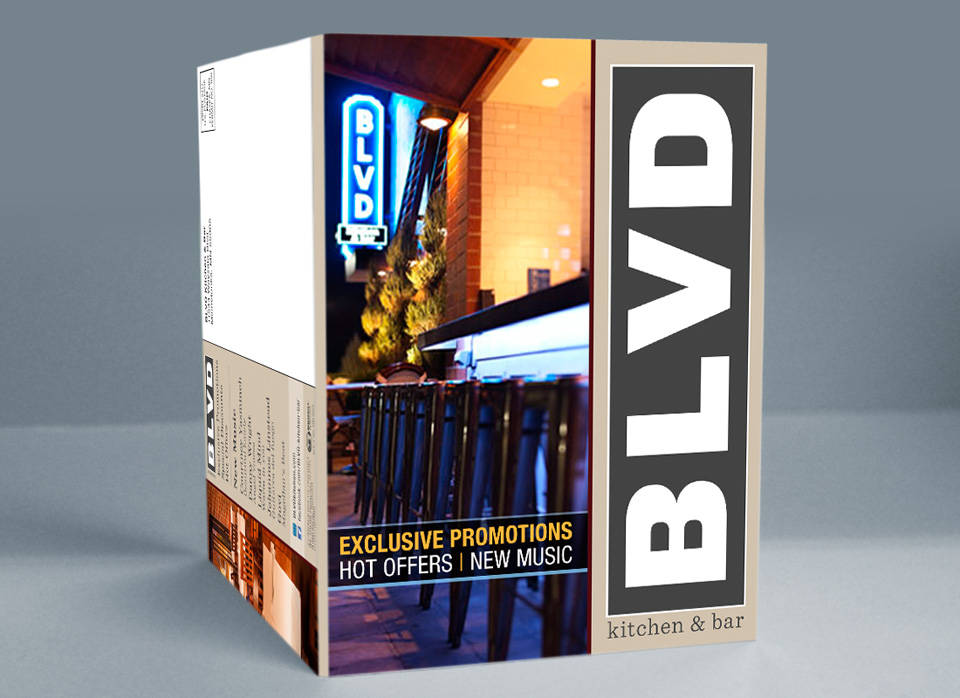 BLVD kitchen and bar | Media disc mailer front cover