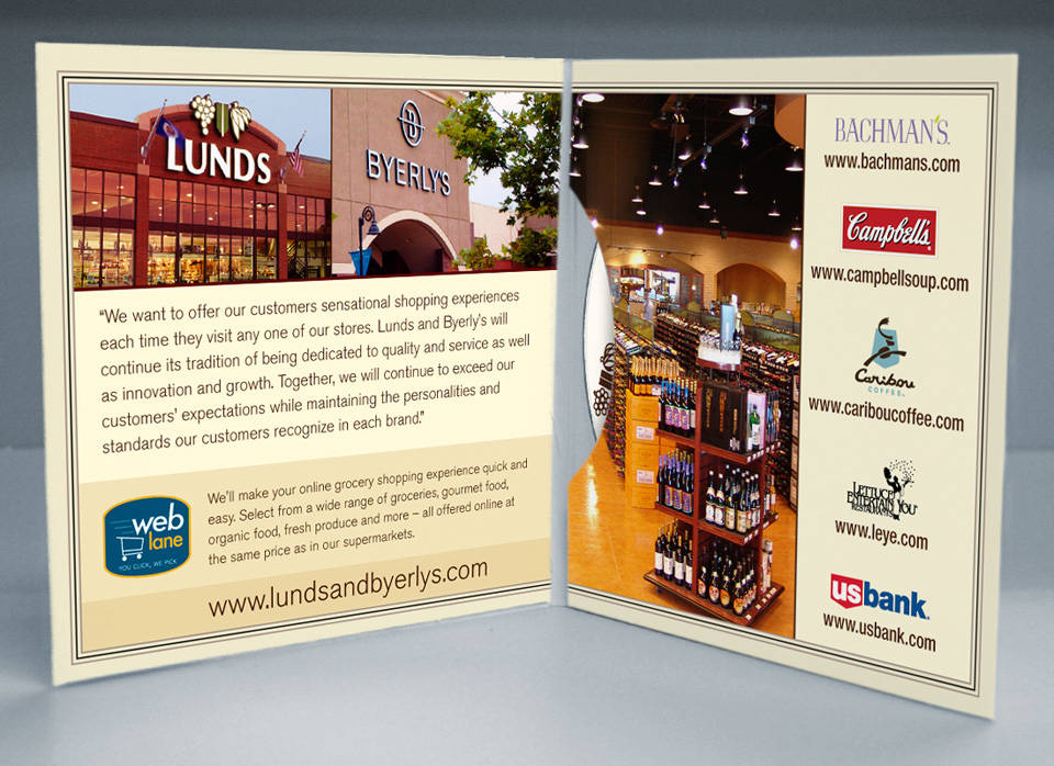 Lunds and Byerly's | Media disc packaging interior