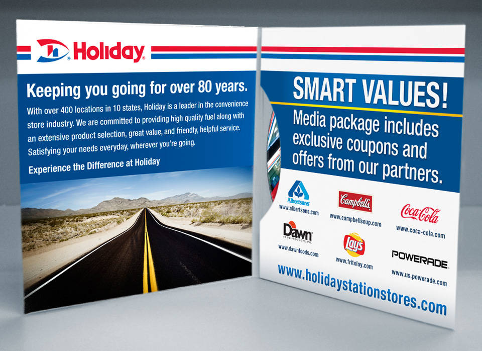 Holiday Station Stores | Media disc packaging interior