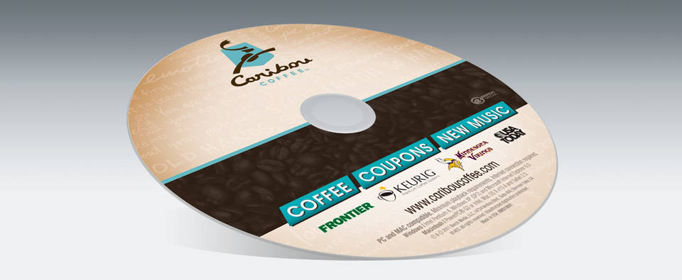 Caribou Coffee | Media disc label