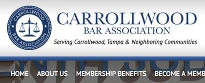 Carrollwood Bar Association | Website Front-end Development